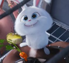 A smile could ban the fear Cute Disney Wallpaper, Cute Wallpaper Backgrounds, Cute Cartoon Wallpapers, Cartoon Pics, Cute Bunny Cartoon, Cute Kawaii Animals, Cute Baby Animals, Snowball Rabbit, Snoopy Videos