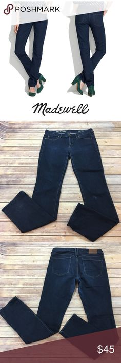"""Madewell Rail Straight Jeans Madewell Rail Straight Jeans. Size 29 x 34. Front rise 8""""/ back rise 10"""". Made of 98% cotton/ 2% spandex Madewell Jeans Straight Leg"""