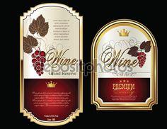 Rótulos de vinhos — Ilustração de Stock #57741431