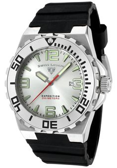 Men's Expedition Silver Dial Black Silicone