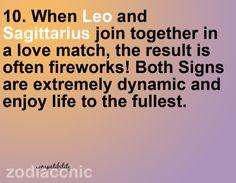#Sagittarius and #Leo in #love