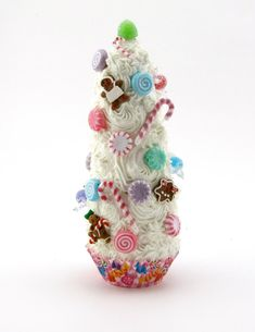 Candy Land Inspired Swirly White Cupcake Tree by 12LegsCuriosities, $25.50
