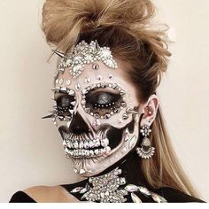 Skeleton with diamonds and spikes