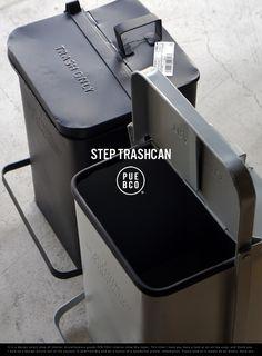 STEP TRASHCAN ステップ トラッシュカン  PUEBCO プエブコスチール ゴミ箱 ごみ ダストボックス おしゃれ レトロデザイン
