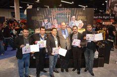 President of Hohner Inc. with the members of Los tucanes de Tijuana