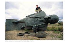 Around the world with Michael Palin - In Addis Abeba with a fallen Lenin statue Around The World In 80 Days, Around The Worlds, Michael Palin, Fall From Grace, Rock Pools, John Muir, Public Art, Python, Memorial Day