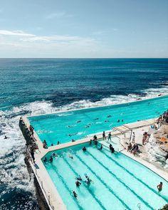 Bondi Icebergs Club, Australia, Travel, Tourist Attraction, Sightseeing Spots, Superb Views, Ocean, Beach, Pool, Leisure Beautiful Places To Visit, Beautiful Beaches, Amazing Places, Beach Pool, Ocean Beach, Places To Travel, Places To Go, Travel Destinations, Bondi Icebergs