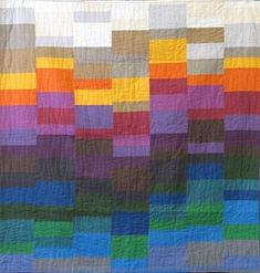 Harvest Spectrum Quilt by Rebekah Craft, dontcallmebecky.blog. Made for Jaftex blog hop .  Fantastic color play!