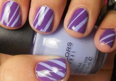 Sinful Colors Candy Coated and Amathyst - Tape Manicure