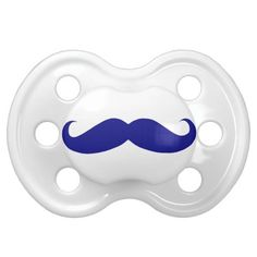 Blue Mustache Baby Pacifier - Unique Baby Pacifiers for Boys