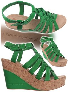 5a1fc8dfc78a Spring - Summer 2012 Leather Green Heel 10 cm (3 7 8 inches) casual pretty