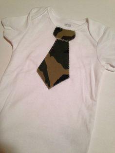 Camouflage Baby/Todder Tie Onesie by BrikayDesigns on Etsy, $12.00