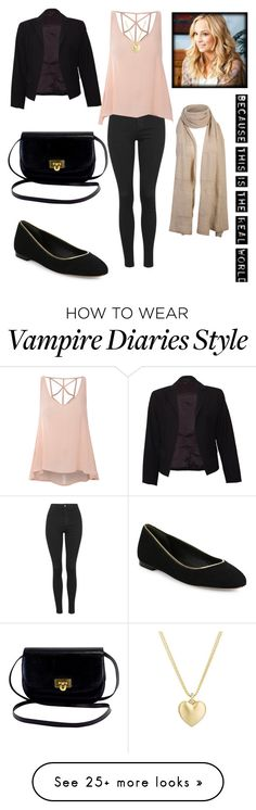 """inspired by caroline forbes"" by johanna2610 on Polyvore featuring Topshop, Glamorous, Theory, Diane Von Furstenberg and Finn"