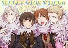 Hetalia Prussia-Japan-Italian-Germany