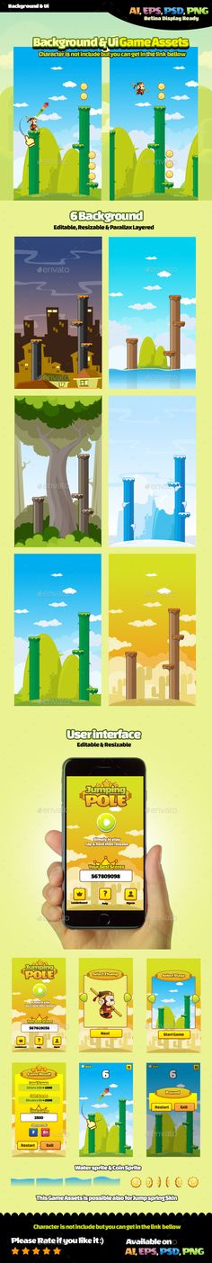 Jumping Pole - Game Kits #Game #Assets   Download http://graphicriver.net/item/jumping-pole/11460997?ref=sinzo