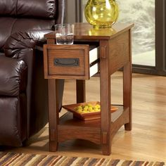 Mission Oak Furniture Side Table End Wood Rustic Lodge Sofa Storage Living Room for sale online Decor, Colorful Chairs, Signature Design By Ashley, Oak Furniture, End Tables, End Tables With Drawers, End Tables With Storage, Mission Chair, Brown Living Room
