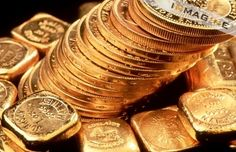 Stack of gold coins photo