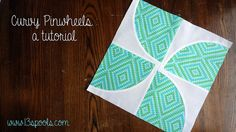 """This free quilt tutorial is for """"Curvy Pinwheels"""".  Thanks to 13 Spools for posting it."""