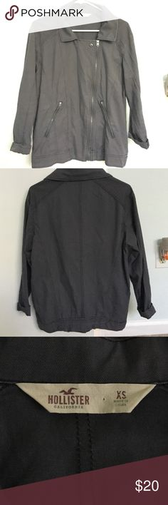 Hollister jacket Never worn, fits loose, great condition Hollister Jackets & Coats