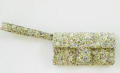 Wallet Organizer for women clutch wristlet floral by stitchinghook