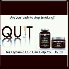 Quit smoking today! This product is a life saver! Contact me at 315-261-2238 or visit my website at www.ashleytaylor147.myitworks.com