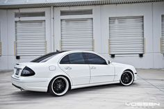 Mercedes-Benz E-Class W211 White on Vossen Wheels | BENZTUNING | Performance and Style