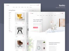 Keeko Website designed by Colin Stewart. Connect with them on Dribbble; the global community for designers and creative professionals. Design Living Room, Dashboards, Shopping Websites, Interactive Design, One Design, Graphic Design, Beautiful, Creative, Ui Ux
