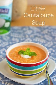 This Chilled Cantaloupe Soup from ItsYummi.com sounds SO refreshing! #MyPicknSave #shop