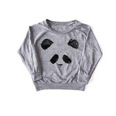girls panda raglan pullover- shop DLK
