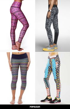 Flattering printed leggings we want to work out in.