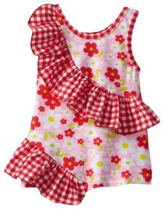 Gingham Rolling Ruffle Top that is sure to make your little cutie extra-adorable!