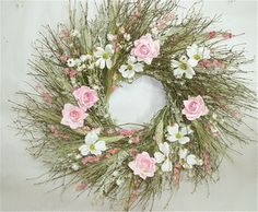 Rustic Dogwood Wreath Spring Door Wreath