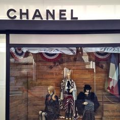 A few pieces from the Paris-Dallas 2014 Métiers D'Art show were on display at the Chanel store in Monaco