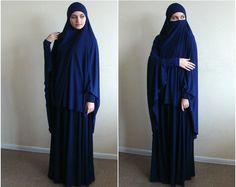 Enchanted Apparel Niqab traditionnel bleu fonc/é pour femme
