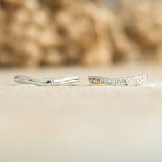 マリッジリング:Flusso(フルッソ)  ゆるやかにU字カーブのあるリング。ミルグレインを施し、繊細なマリッジリングに✴︎  [Platinum 900 marriage wedding ウエディング 結婚指輪 ダイヤモンド,diamond]