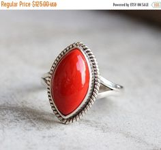 Hey, I found this really awesome Etsy listing at https://www.etsy.com/listing/203032409/red-coral-ring-artisan-bezel-set-ring