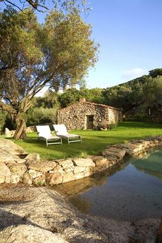 Corsica's Murtoli is one of the best kept secrets! Dream Pools, Rustic Cottage, Corsica, Destin Beach, Stone Houses, Pool Houses, Luxury Villa, Jacuzzi, Tiny House