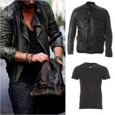 Get the look with our HUGO BOSS jacket and ARMANI tee…