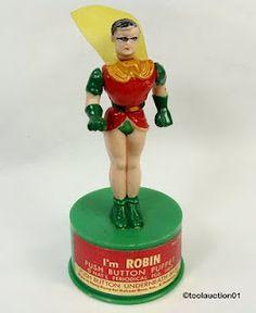 1969 Kohner Robin Push Puppet