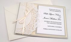 Lace Doily Vintage Save the Date Baby Shower by BellaPapel on Etsy, $4.00