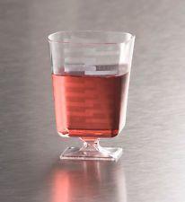 2 oz Square Plastic Shot Wine Glass / Glasses Goblets 90 Mini jello Cups