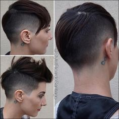 Edgy Haircuts Ideas For Your Inspiration medium edgy haircuts, edgy short haircuts edgy haircu Short Hair Cuts For Women, Long Hair Cuts, Short Hairstyles For Women, Short Hair Styles, Shaved Side Hairstyles, Undercut Hairstyles, Funky Hairstyles, Casual Hairstyles, Medium Hairstyles