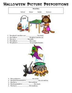 Free! HALLOWEEN PICTURE PREPOSITIONS