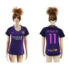 Barcelona Fodboldtøj Dame 16-17 Neymar Jr 11 Udebane Trøje Kortærmet.  http://www.fodboldsports.com/barcelona-fodboldtoj-dame-16-17-neymar-jr-11-udebane-troje-kortermet.  #fodboldtrøjer