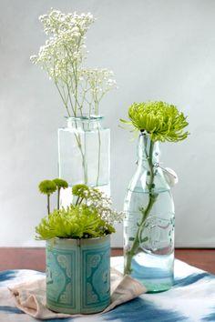 Green & White Floral Arrangement