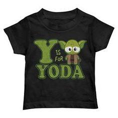 Star Wars Toddler Boys' Y is for Yoda T-Shirt - Black : Target