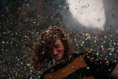 A girl dancing under a confetti rain at a festival by Chris Zielecki - Stocksy United Winter's Tale, Girl Dancing, Nye, Young Women, Confetti, Jon Snow, Rain, The Unit, Stock Photos