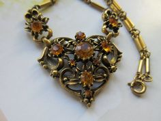 Vintage Coro Necklace Signed Costume Jewelry by AndOnToWillow