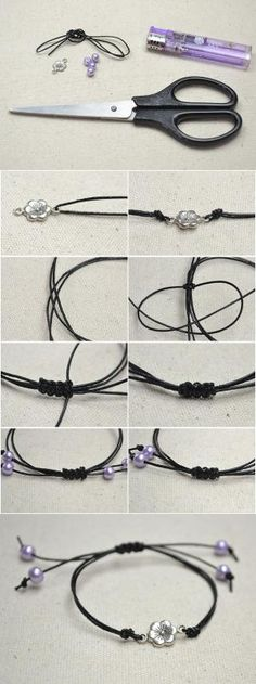 How to Make Black Leather Bracelets for Women from LC.Pandahall.com   Jewelry Making Tutorials & Tips 2   Pinterest by Jersica