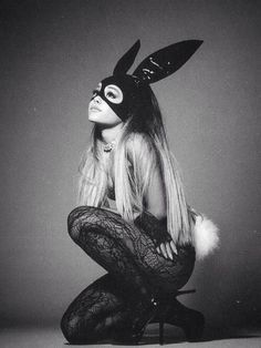 ariana grande, arianagrande, and dangerous woman image Ariana Grande Fotos, Ariana Grande Bunny, Ariana Grande Poster, Ariana Grande Wallpaper, Ariana Grande Dangerous Woman, Dangerous Woman Tour, Black And White Photo Wall, Scream Queens, Black And White Aesthetic